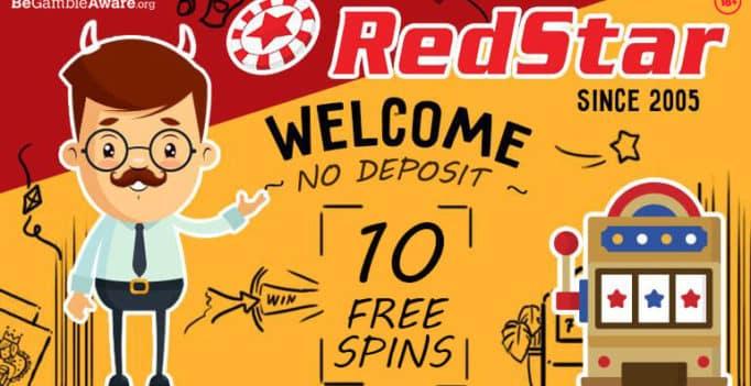 Redstar Casino 10 free spins no deposit