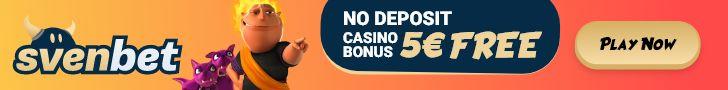 Svenbet Casino 5 EUR No Deposit Bonus