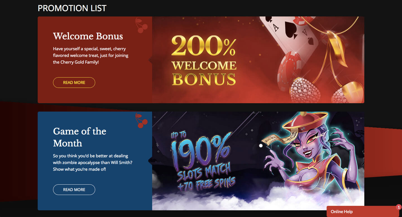 cherry gold casino screenshot