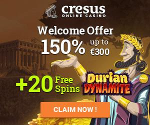 Cresus Casino Welcome Bonus