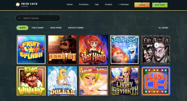 irish luck casino screenshot