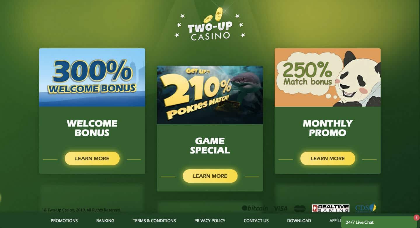 two up casino screenshot