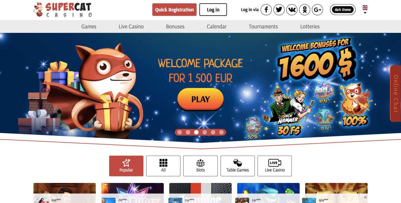 super cat casino screenshot