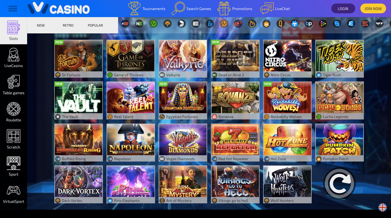 ivi casino screenshot