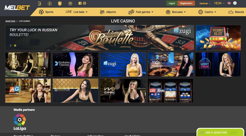 melbet casino screenshot