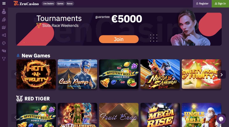 zen casino screenshot