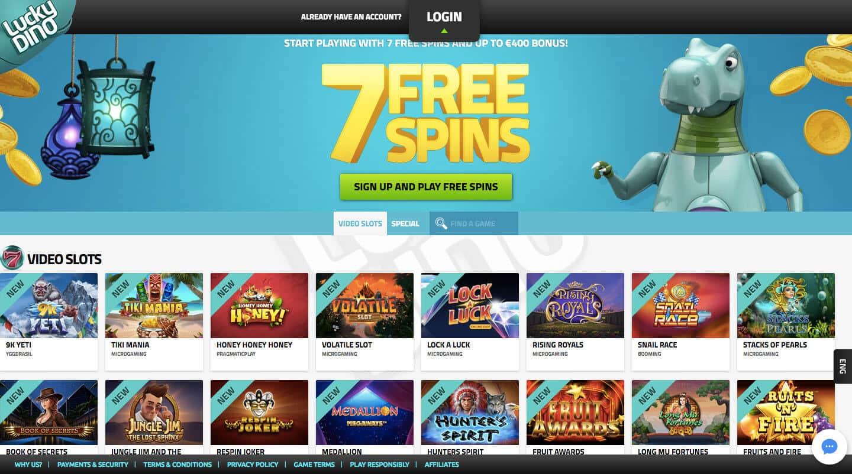luckydino casino screenshot