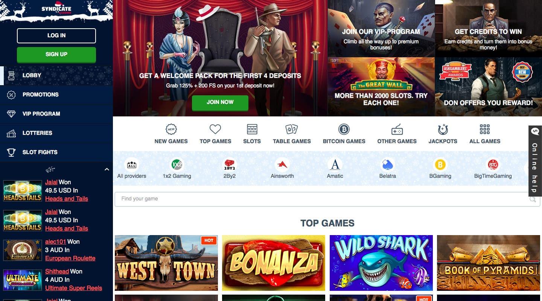 syndicate casino screenshot