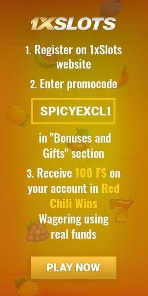 1xSlots 100 Free Spins No Deposit